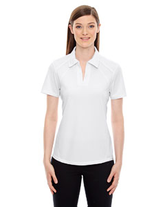 White 701 Ladies' Recycled Polyester Performance Piqué Polo