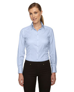 Cool Blue 808 Ladies' Wrinkle-Free Two-Ply 80's Cotton Taped Stripe Jacquard Shirt