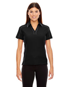 Black 703 Ladies' Sonic Performance Polyester Piqué Polo