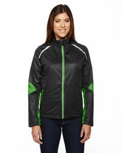 Blk/acid Grn 453 Ladies' Dynamo Three-Layer Lightweight Bonded Performance Hybrid Jacket