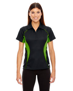 Blk/acid Grn 453 Ladies' Serac UTK cool.logik™ Performance Zippered Polo