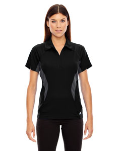 Black 703 Ladies' Serac UTK cool.logik™ Performance Zippered Polo