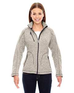 Lt Heather 832 Ladies' Peak Sweater Fleece Jacket