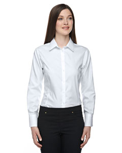 Silver 674 Ladies' Boulevard Wrinkle-Free Two-Ply 80's Cotton Dobby Taped Shirt with Oxford Twill