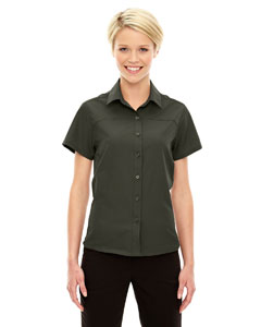 Oakmoss 462 Ladies' Charge Recycled Polyester Performance Short-Sleeve Shirt