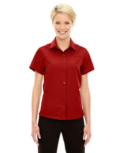 Classic Red 850 Ladies' Charge Recycled Polyester Performance Short-Sleeve Shirt
