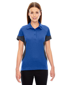 Nauticl Blue 413 Ladies' Refresh UTK cool.logik™ Coffee Performance Mélange Jersey Polo