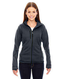 Carbon 456 Ladies' Pulse Textured Bonded Fleece Jacket with Print