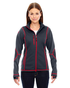 Carbn/oly Rd 467 Ladies' Pulse Textured Bonded Fleece Jacket with Print