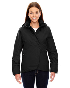 Black 703 Ladies' Skyline City Twill Insulated Jacket with Heat Reflect Technology