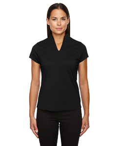 Black 703 Ladies' Weekend Cotton Blend UTK cool.logik™ Performance Polo