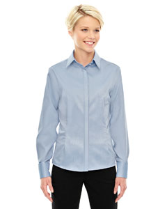 Cool Blue 808 Ladies' Refine Wrinkle-Free Two-Ply 80's Cotton Royal Oxford Dobby Taped Shirt