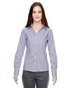 Royal Purpl 475 Ladies' Precise Wrinkle-Free Two-Ply 80's Cotton Dobby Taped Shirt
