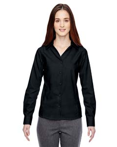 Black 703 Ladies' Precise Wrinkle-Free Two-Ply 80's Cotton Dobby Taped Shirt