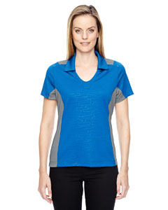 Olympic Blue 447 Ladies' Reflex UTK cool.logik™ Performance Embossed Print Polo