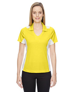 Banana Yelw 473 Ladies' Reflex UTK cool.logik™ Performance Embossed Print Polo