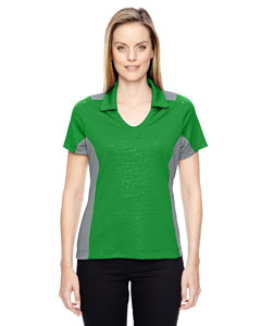 Green Flash 474 Ladies' Reflex UTK cool.logik™ Performance Embossed Print Polo