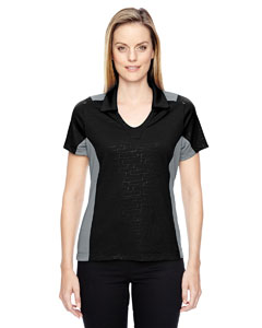 Black 703 Ladies' Reflex UTK cool.logik™ Performance Embossed Print Polo