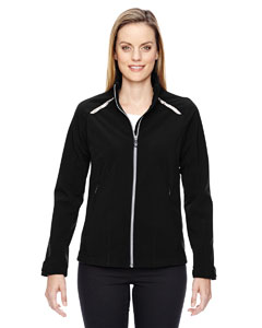 Black 703 Ladies' Excursion Soft Shell Jacket with Laser Stitch Accents