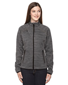 Carbon 456 Ladies' Flux Mélange Bonded Fleece Jacket