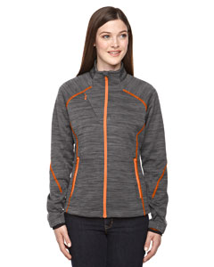 Crbn/or Soda 482 Ladies' Flux Mélange Bonded Fleece Jacket