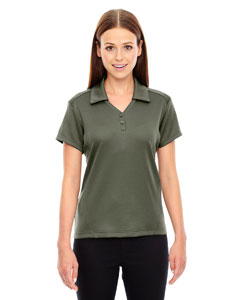 Oakmoss 462 Ladies' Exhilarate Coffee Charcoal Performance Polo with Back Pocket