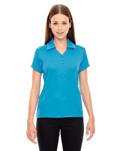 Elect Blue 485 Ladies' Exhilarate Coffee Charcoal Performance Polo with Back Pocket