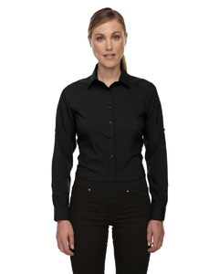 Black 703 Ladies' Rejuvenate Performance Shirt with Roll-Up Sleeves