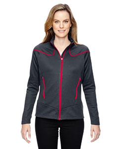 Crbn/olyred 467 Ladies' Interactive Cadence Two-Tone Brush Back Jacket