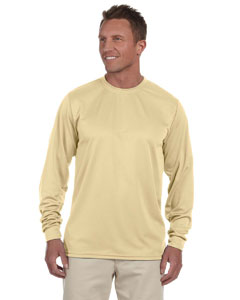 Vegas Gold 100% Polyester Moisture-Wicking Long-Sleeve T-Shirt