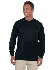 Black 100% Polyester Moisture-Wicking Long-Sleeve T-Shirt