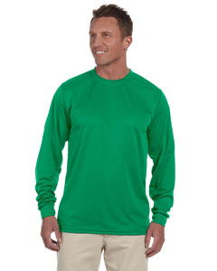 Kelly 100% Polyester Moisture-Wicking Long-Sleeve T-Shirt
