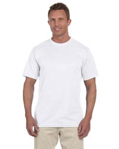 White 100% Polyester Moisture-Wicking Short-Sleeve T-Shirt