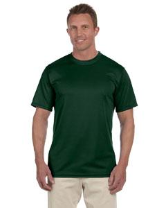 Dark Green 100% Polyester Moisture-Wicking Short-Sleeve T-Shirt
