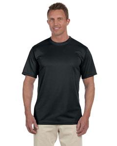 Black 100% Polyester Moisture-Wicking Short-Sleeve T-Shirt