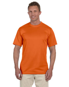 Orange 100% Polyester Moisture-Wicking Short-Sleeve T-Shirt