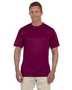 Maroon 100% Polyester Moisture-Wicking Short-Sleeve T-Shirt