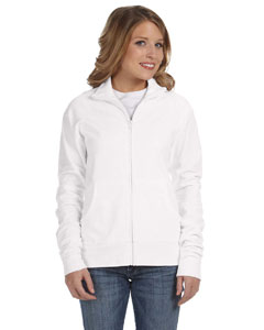 White Women's Cotton/Spandex Cadet Jacket