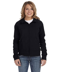 Black Women's Cotton/Spandex Cadet Jacket