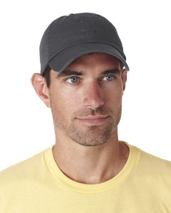 Charcoal Classic Cut Chino Cotton Twill Unconstructed Cap