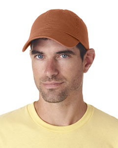 Tangerine Classic Cut Chino Cotton Twill Unconstructed Cap