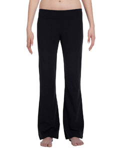 Black Women's Cotton/Spandex Fitness Pant