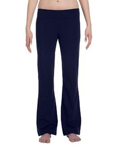 Navy Women's Cotton/Spandex Fitness Pant