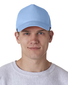 Light Blue Adult Classic Cut Cotton Twill 5-Panel Cap