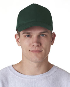 Forest Green Adult Classic Cut Cotton Twill 5-Panel Cap