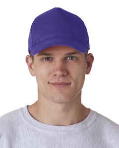 Purple Adult Classic Cut Cotton Twill 5-Panel Cap