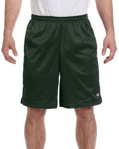 Athletic Dark Green 3.7 oz. Long Mesh Shorts with Pockets