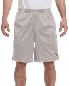 Athletic Grey 3.7 oz. Long Mesh Shorts with Pockets