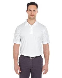 White Men's Cool & Dry Mesh Pique Polo