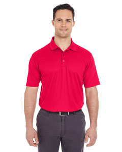 Red Men's Cool & Dry Mesh Pique Polo